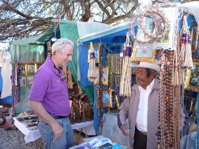 Ron, buying crown of thorns, disciplina and bridal veil for Christ