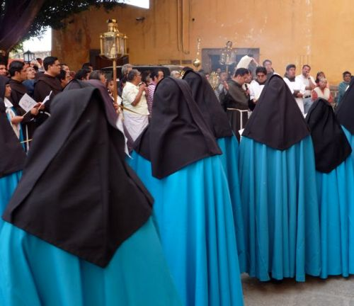 Nuns in blue