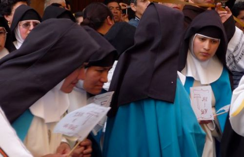 Nuns in blue habits