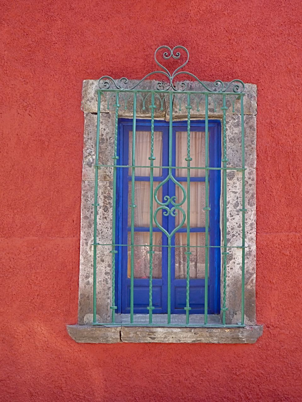 Iron window grate