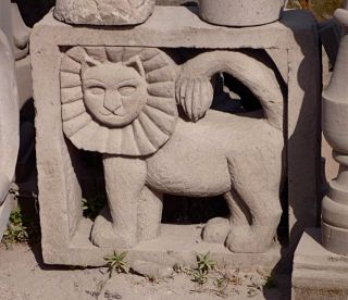 Wall insert of a lion, Escolasticas, Cantera