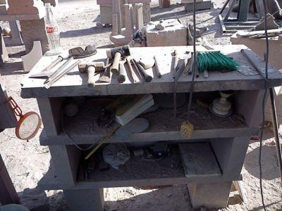 Tools of the trade, hand carving tools, Escolastica, Cantera