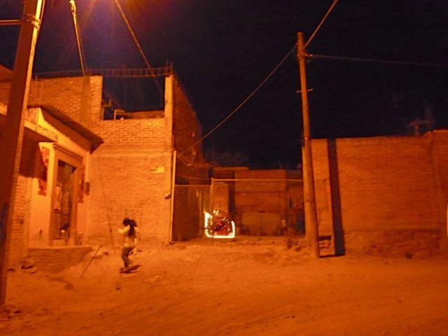 Nacimiento and children running around
