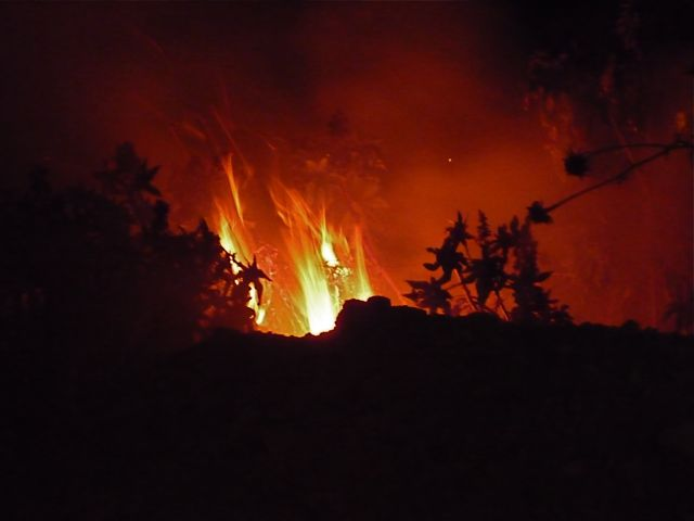 Fire on San Martin