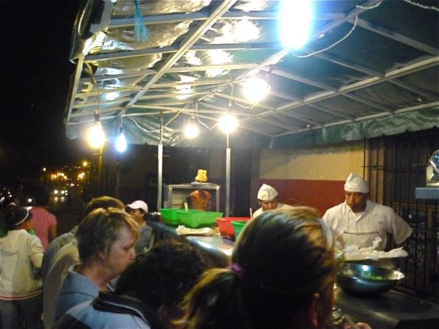 Taco stand on calle Insurgente