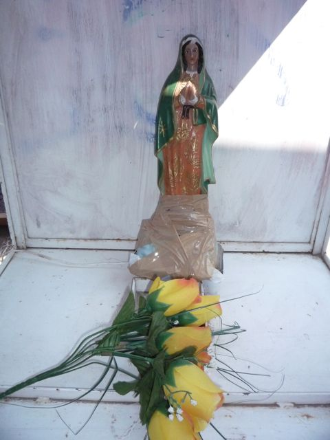 Virgin of guadalupe Shrine, all taped together
