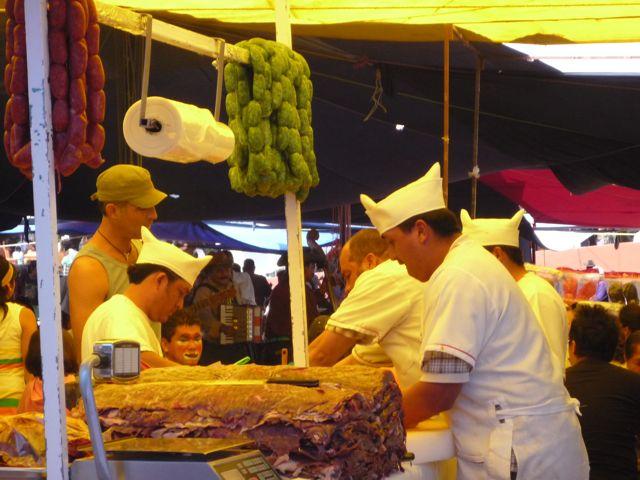 Green sausage from toluca