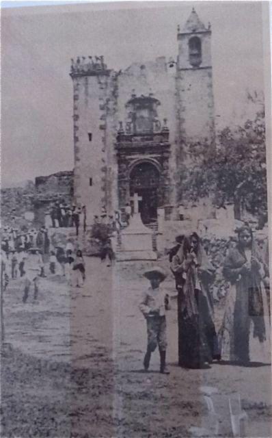 The church in San Antonio (currently the parroquia of San Antonio)